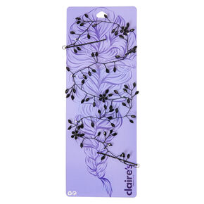Floral Hair Vine - Black,