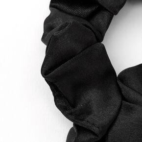 Medium Silky Sleek Hair Scrunchie - Black,