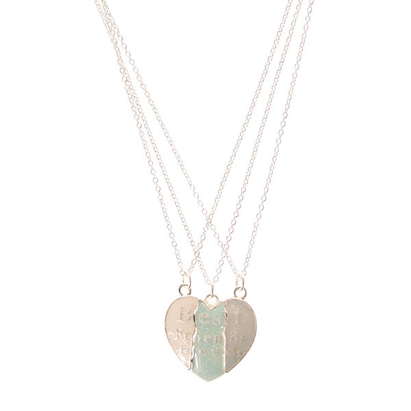 Claire's - best friends forever broken heart necklaces - 1