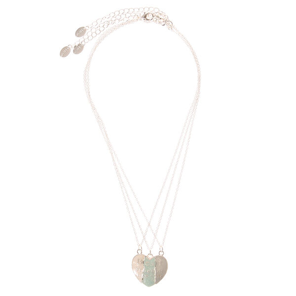 Claire's - best friends forever broken heart necklaces - 2