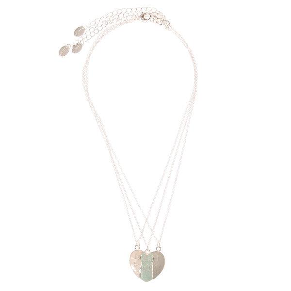 Claire's - best friends forever broken heart necklaces - 2