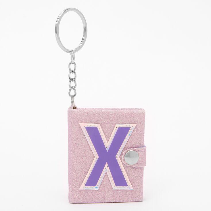 Porte-clés mini journal intime à initiale - X,