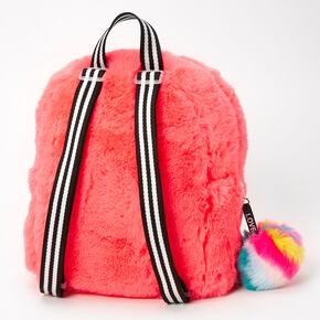 Furry Mini Backpack - Coral,