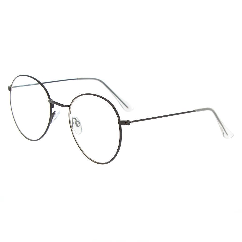 lunettes ronde en métal noir