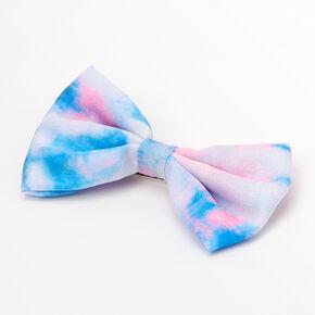 Tie Dye Hair Bow Clip - Pink/Blue,