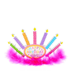 Diadème rose qui s'allume Happy Birthday to Me du ClubClaire's,