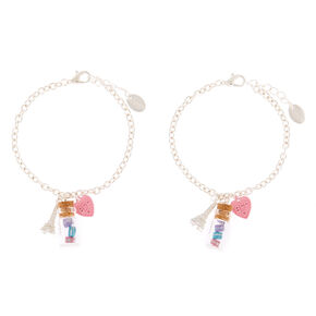 Paris Macaron Chain Friendship Bracelets - 2 Pack,