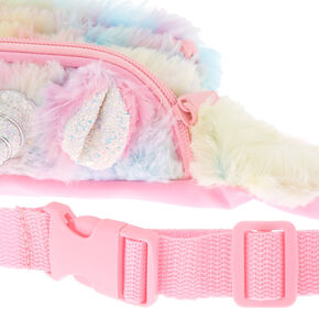 Pastel Fuzzy Unicorn Fanny Pack,