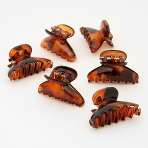 Tortoise Shell Hair Claws - 6 Pack,
