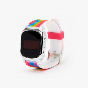 Rainbow Tie Dye LED Watch,