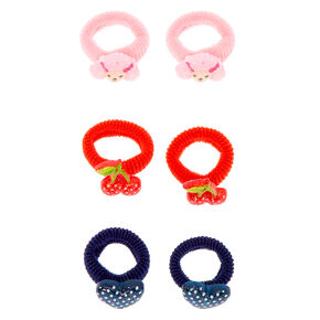 Claire's Club Polyresin Hair Ties - 6 Pack,