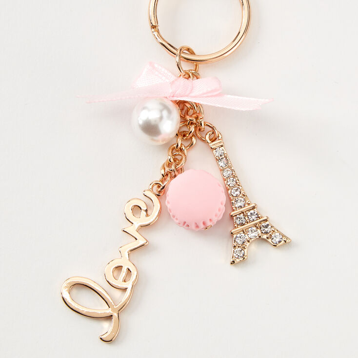 Love Paris Keychain - Pink,