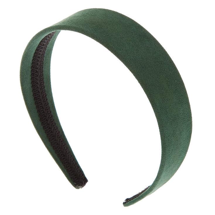 Wide Suede Headband - Hunter Green,