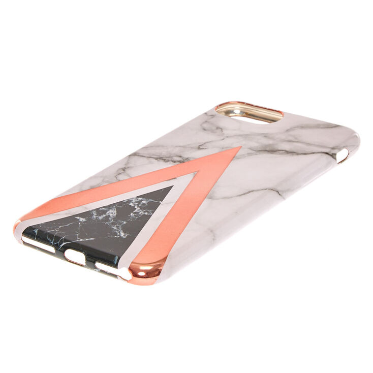 Rose Gold Geometric Marble Phone Case - Fits iPhone 6/7/8/SE,