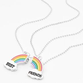 Colliers à pendentif arc-en-ciel brisé best friends - Lot de 2,