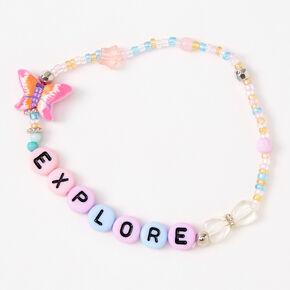 Pastel Explore Beaded Stretch Bracelet,