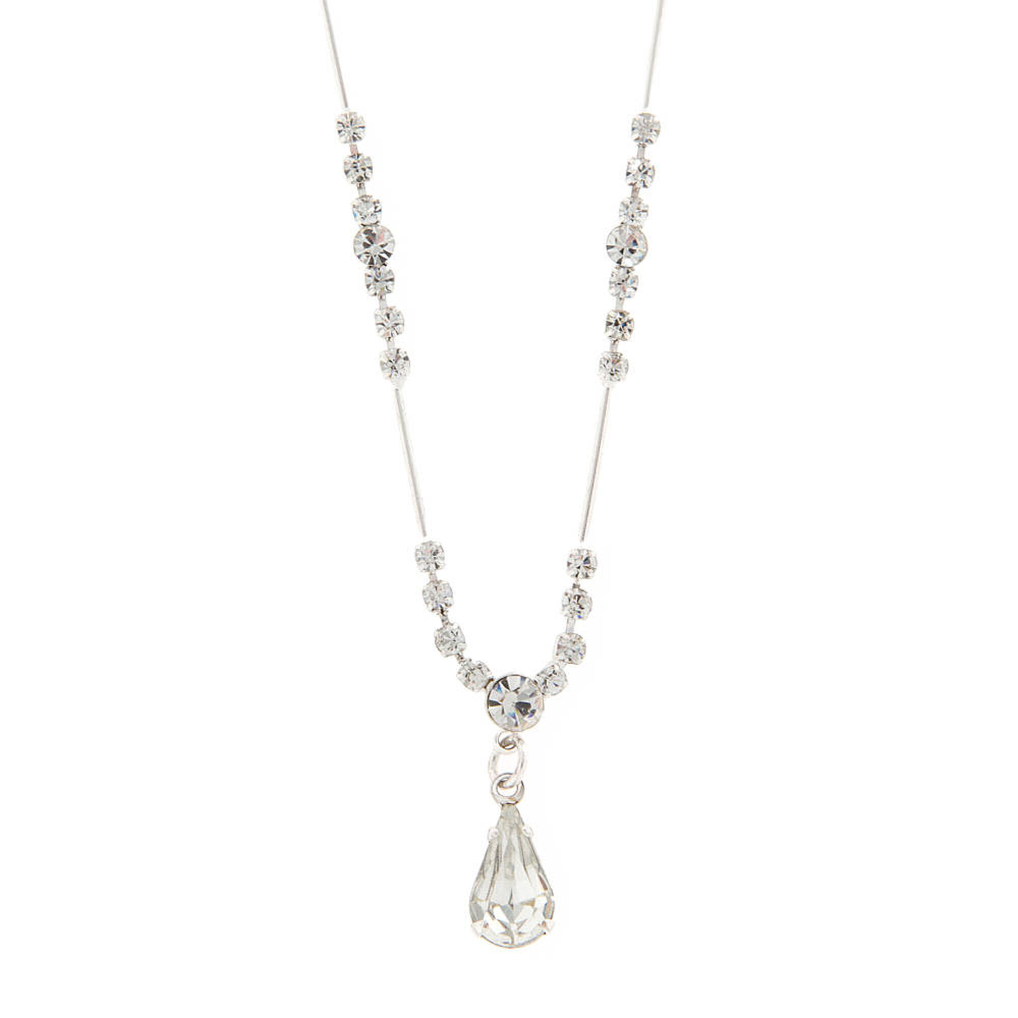 Crystal teardrop y necklace claires us crystal teardrop y necklace aloadofball Gallery