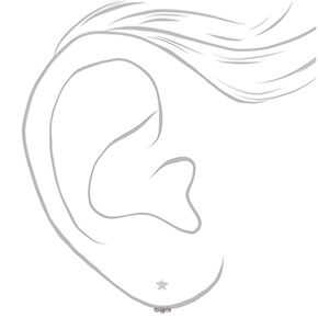 Bijoux d'oreilles étoile couleur argentée,