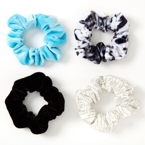 Sky Brown™ Small Hair Scrunchies – Black, 4 Pack,