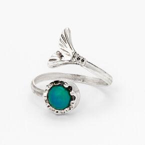 Silver Mermaid Tail Mood Ring,