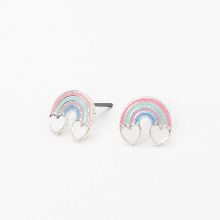 Pastel Rainbow Stud Earrings,