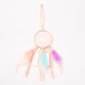 Pastel Beaded Mini Dreamcatcher Wall Art - Blush Pink,