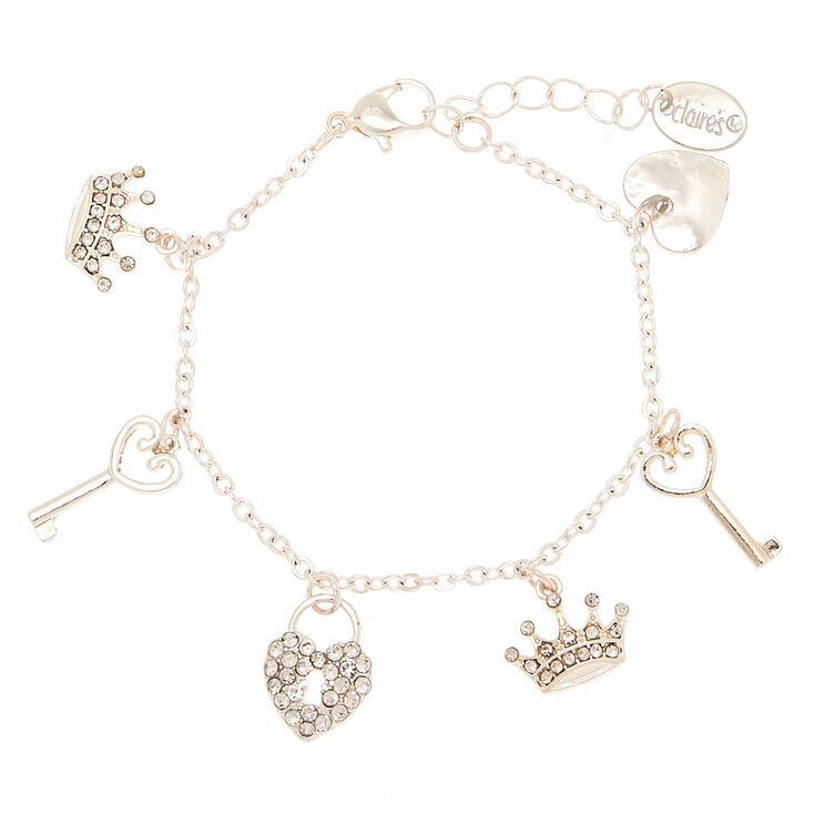 Bracelet à breloques royales couleur argenté,