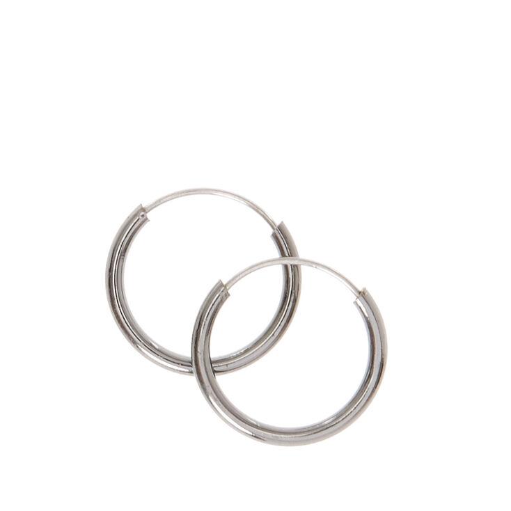 Mini Hematite Hoop Earrings Claires