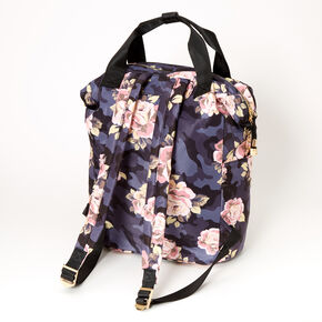 Floral Camo Double Handle Medium Backpack,
