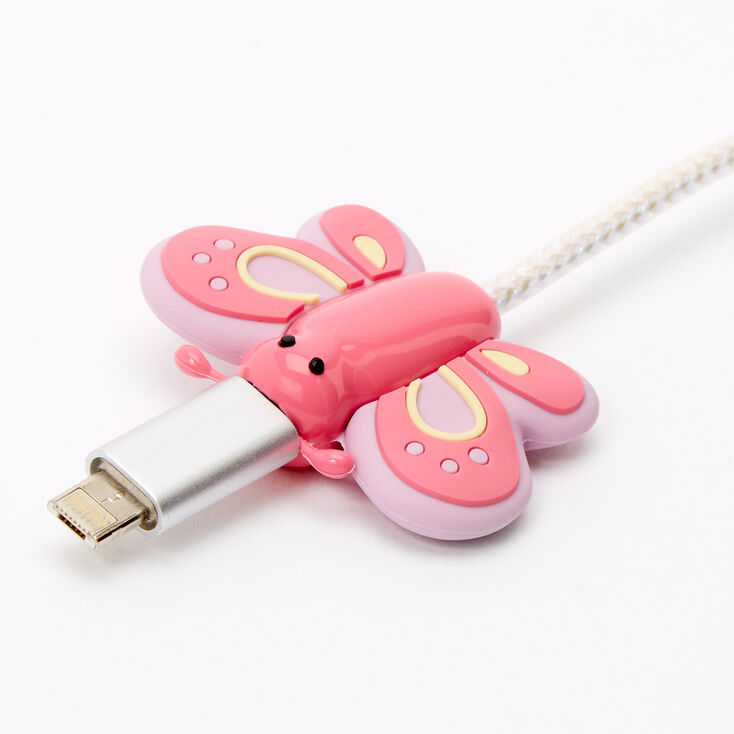 MojiPower® Butterfly Cable Protector - Pink,
