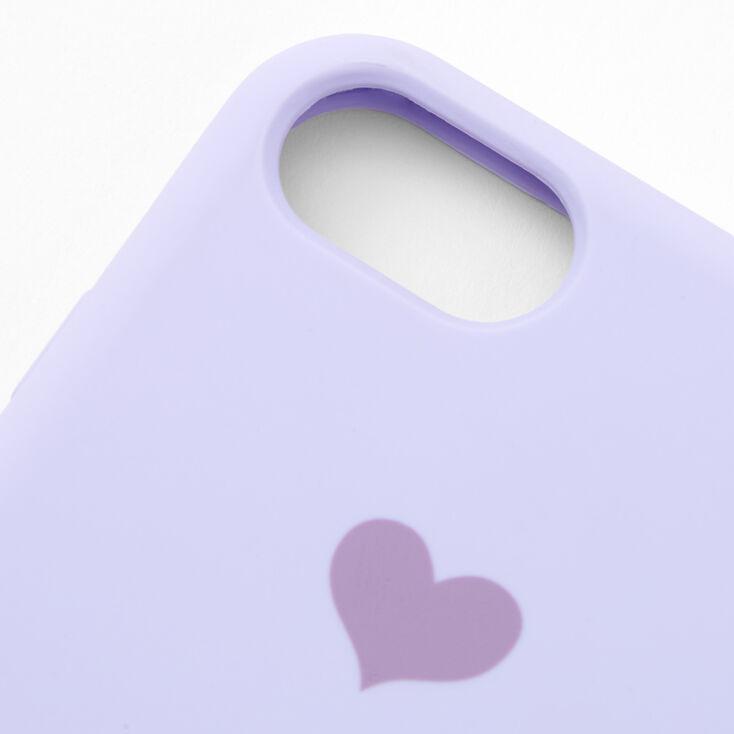 Coque de portable cœur lavande - Compatible avec iPhone® 6/7/8/SE,