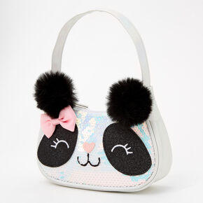 Glitter Panda Hobo Bag - White,