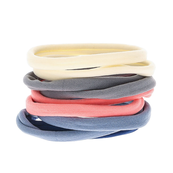 Dusty Gray Rolled Hair Ties - 10 Pack,