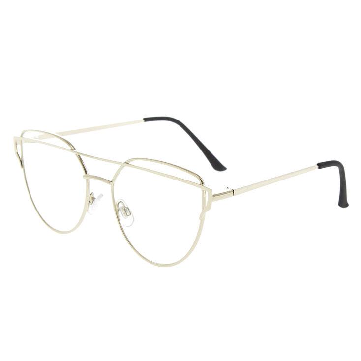 Silver Brow Bar Fake Glasses,