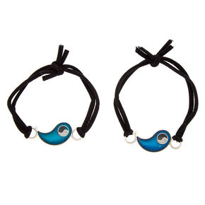 Mood Yin Yang Stretch Friendship Bracelets - 2 Pack,
