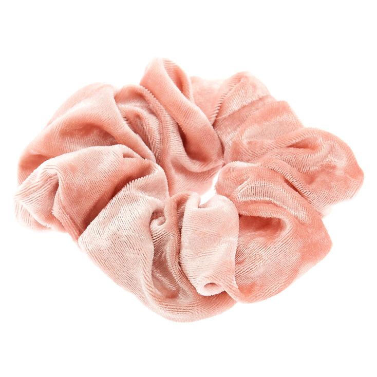 Medium Velvet Hair Scrunchie - Blush Pink,