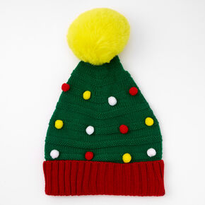 Christmas Tree Beanie Hat - Green,