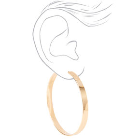 Gold 60MM Thick Hoop Earrings,
