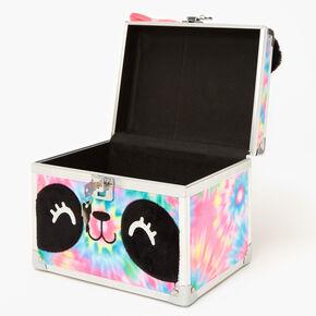 Tie-Dye Panda Furry Lock Box,