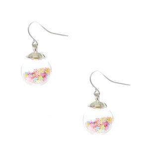 Neon Star Confetti Shaker Earrings,
