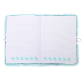 Miss Glitter the Unicorn Soft Lock Notebook - Mint,