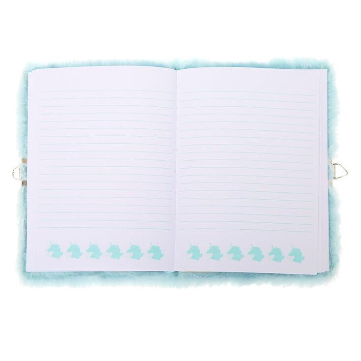 Miss Glitter the Unicorn Soft Lock Notebook - Mint,