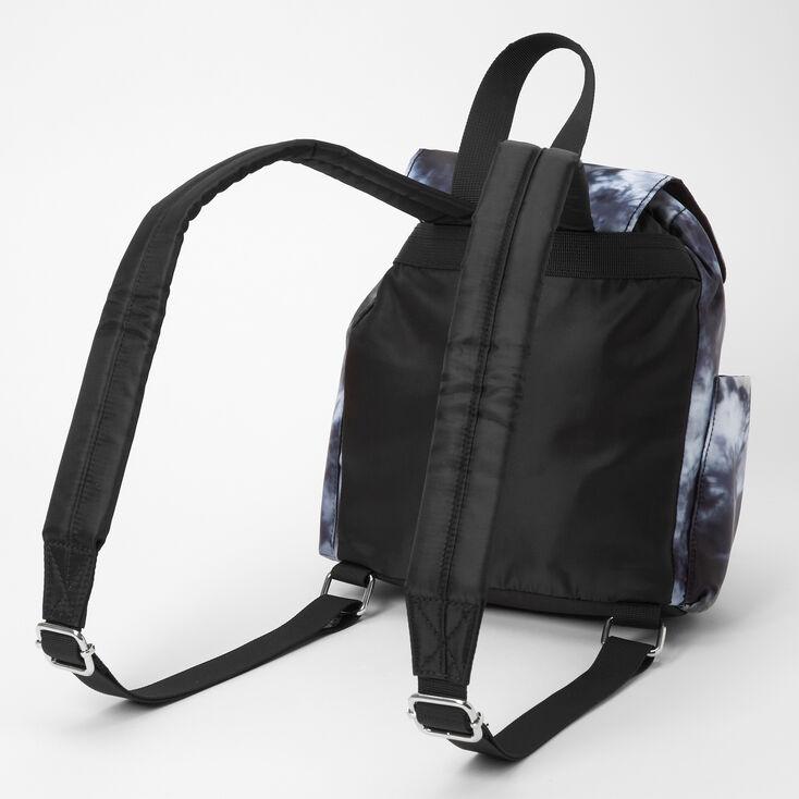 Tie Dye Small Backpack - Black,