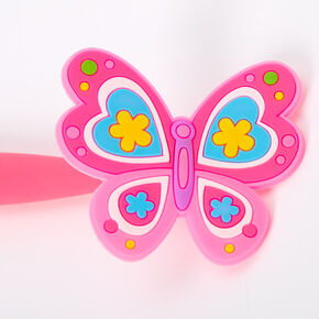 Silicone Butterfly Floppy Topper Pen - Pink,