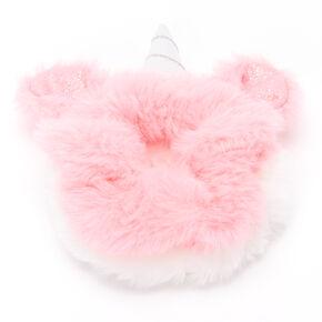 Claire's Club Medium Faux Fur Unicorn Hair Scrunchies - 2 Pack,