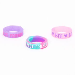 Best Friends Ombre Silicone Rings - Purple, 3 Pack,