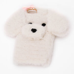Furry White Dog Phone Case - Fits iPhone 5,