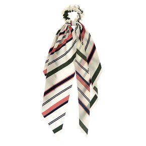 Small Striped Hair Scrunchie Scarf,