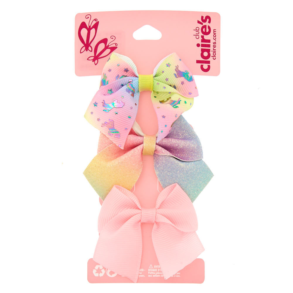 Girly glitter unicorn ribbon case