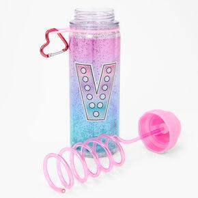 Initial Water Bottle - Pink, V,